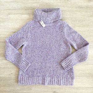 NWT Talbots Speckled Cowl Neck Knit Turtleneck PL